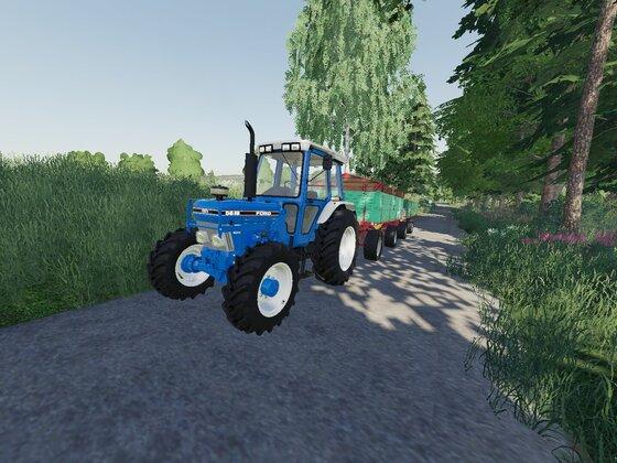 Ford mit 15 Tonnen Weizen im Heck