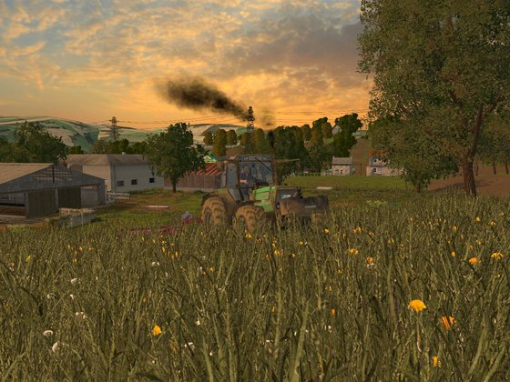 Am Abend noch Gras mähen