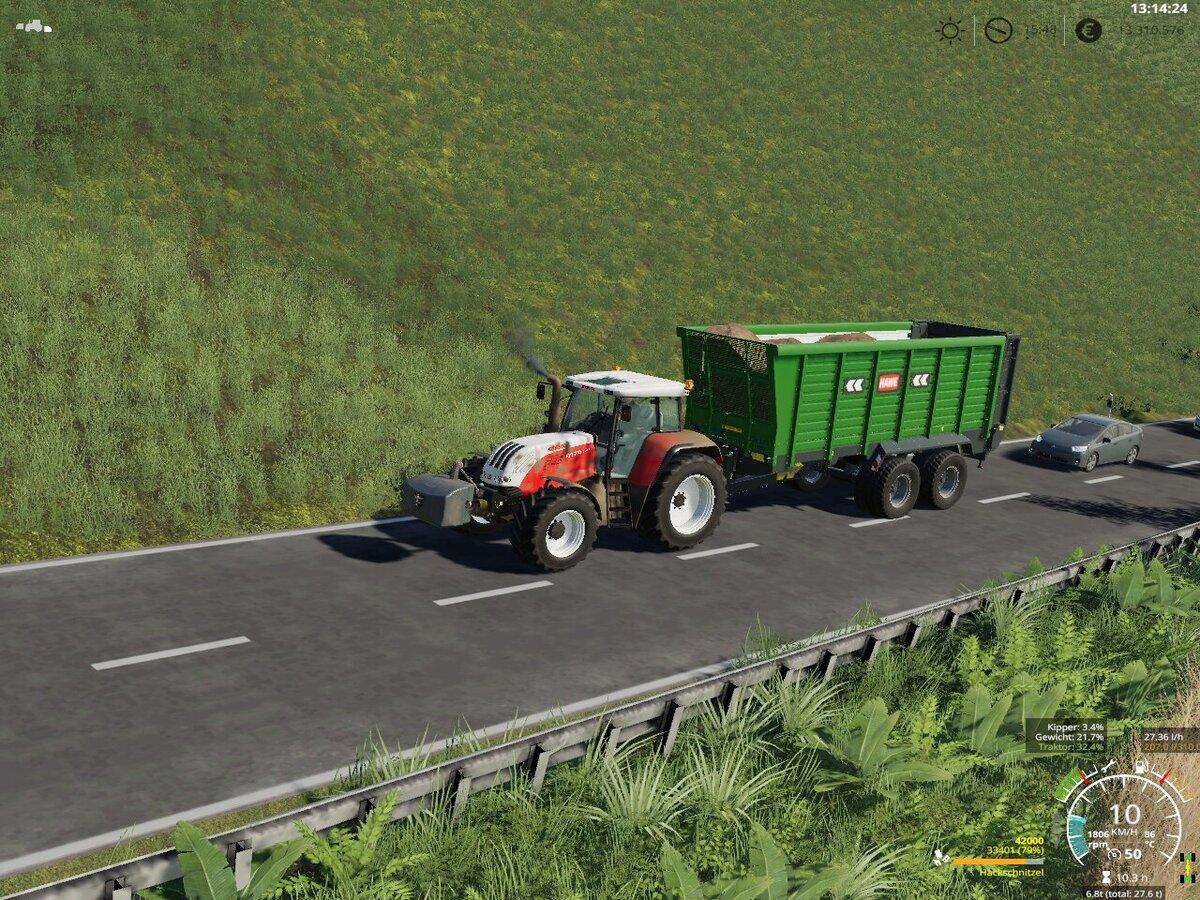 Hackschnitzel Transport