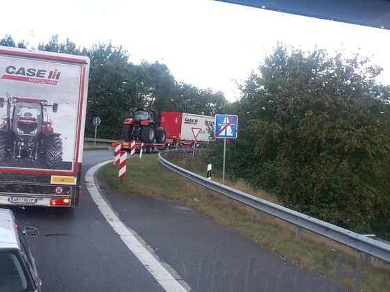 Gestern vor mir an der Autobahnausfahrt Lohne.