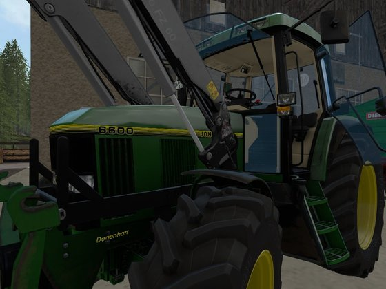 Neues decal am John Deere 6600
