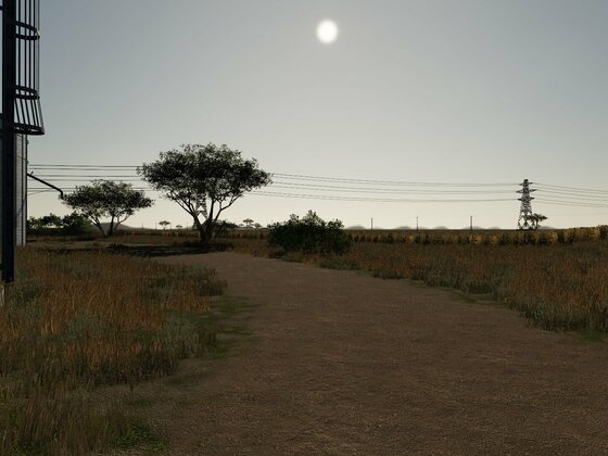 Blick von Getreidelager Richtung Osten