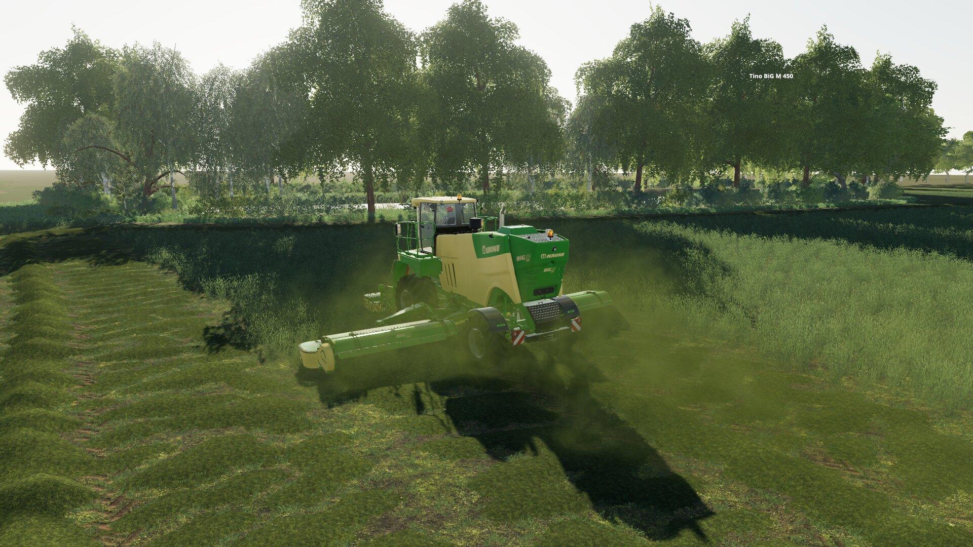 die ersten Wiesen im Landgrabental entstehen