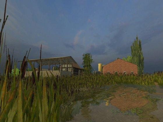 Hof Blick vom Teich