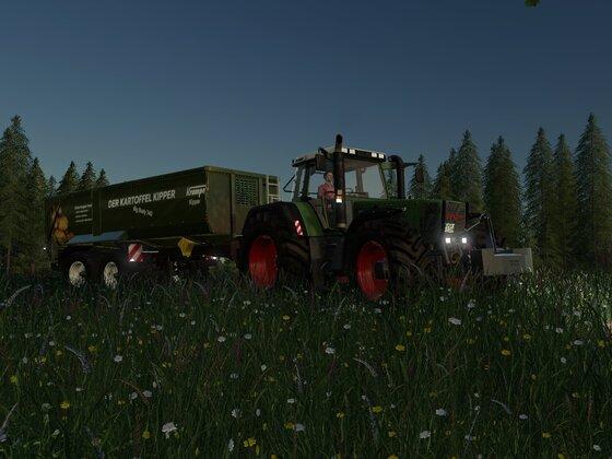 Kartoffel-Abtransport mit Fendt Favorit 818 und Krampe Big Body 740 Kipper