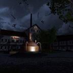 Brauerei bei Nacht