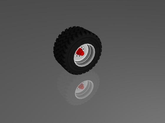 Reifen mit fertiger Textur.