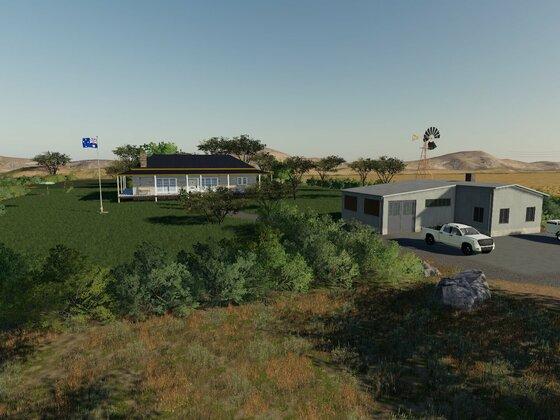 Wohnhaus mit Garten vom zukünftigen Betriebsleiter