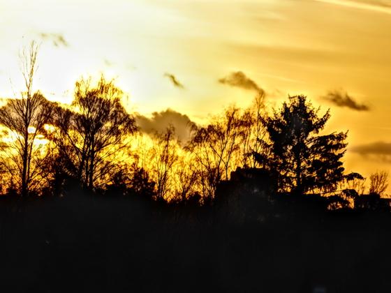 Sonnenuntergang aus dem Fenster :D
