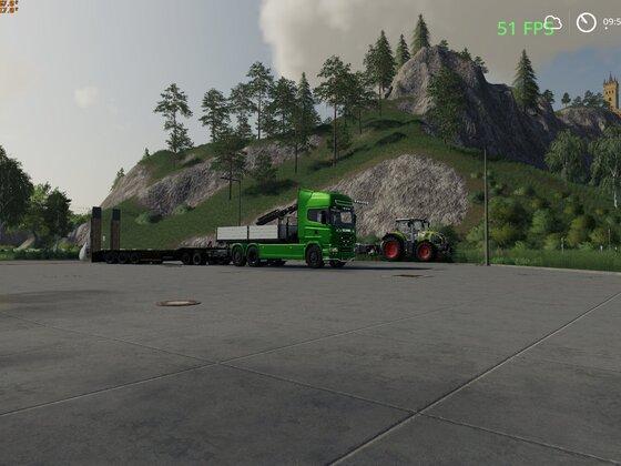 Passende Zugmaschine gefunden und schon angepasst