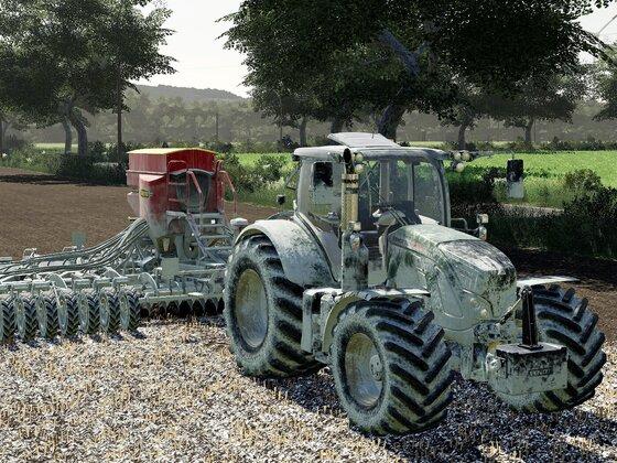 Feldbestellung der kalkhaltigen Art ...