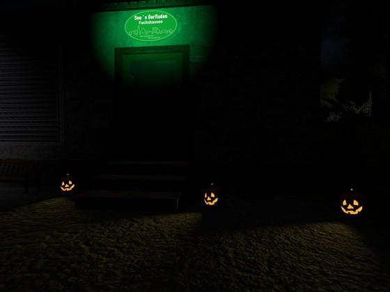 Halloween beim Dorfladen