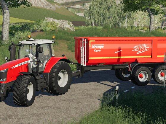 Getreideabtransport mit Massey Ferguson 7618 und Krampe Big Body 790.