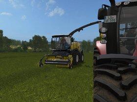 Fr9090 am Gras hacken mit Massey
