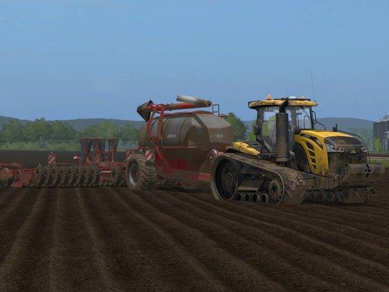 Weizensaat in Knezmost mit Challenger MT875E und Horsch Pronto 9SW Airseeder