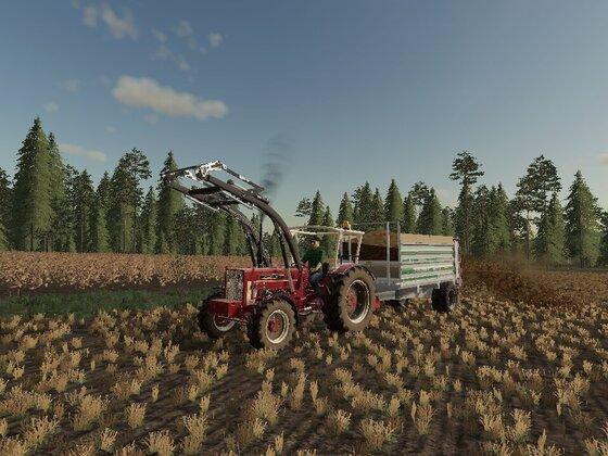 Felder und Wiese Düngen mit Deutz 8006 und IHC 824