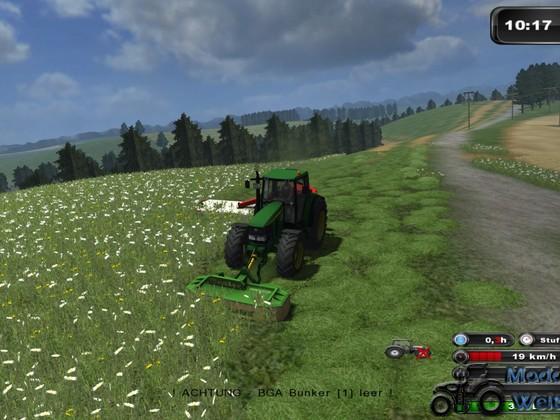Gras Silieren auf der Oberfr. Jura