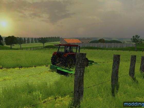 Gras mähen in Niederbayern