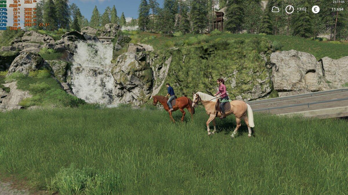 Die Gegend per Pferd erkundet