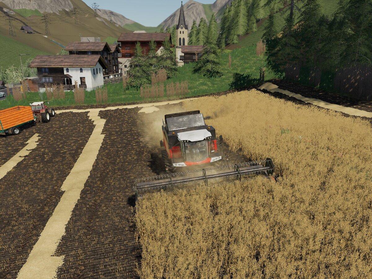 Hafer Dreschen in Südtirol