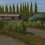 Biogasanlage und Rindermastanlage