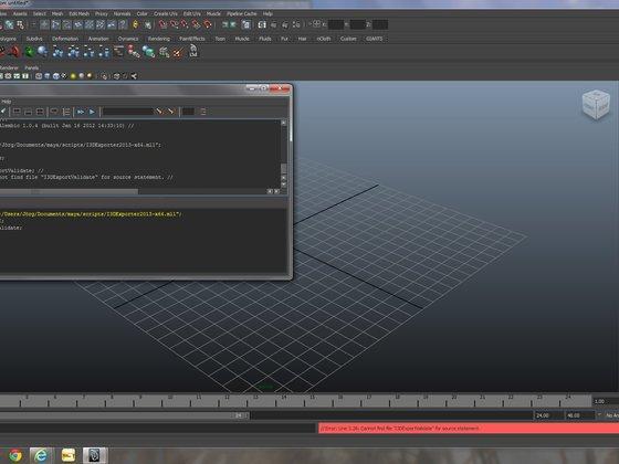 Maya i3D exporter fehler