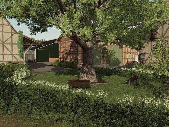 Kuhbetrieb im Dorf Langwedel
