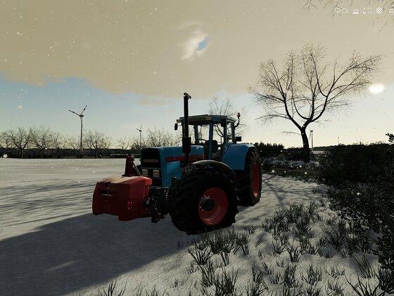 Auf zum Pflügen im Schnee auf der Birkenfeld