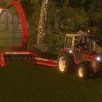 Gras einfahren am Abend