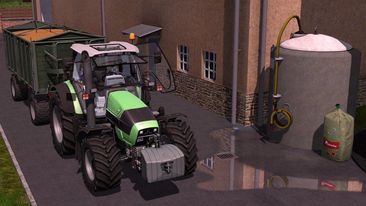 Deutz-Fahr Agrotron 430 TTV mit einem Oelkers Kipper :)