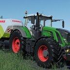 Fendt Vario 936 s4 & Claas Quadrant 5300 FC