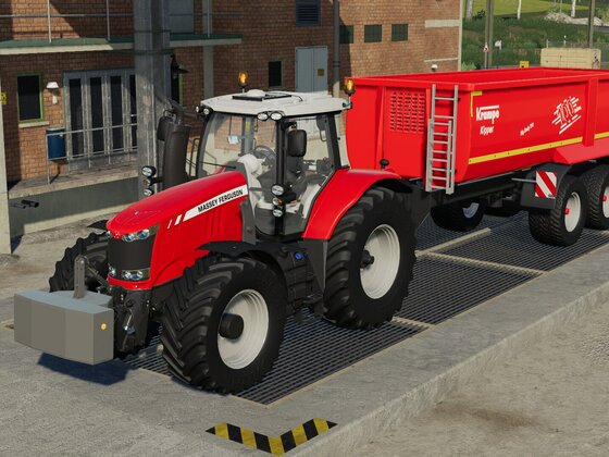 Getreideabtransport mit Massey Ferguson 7618 und Krampe Big Body 790.