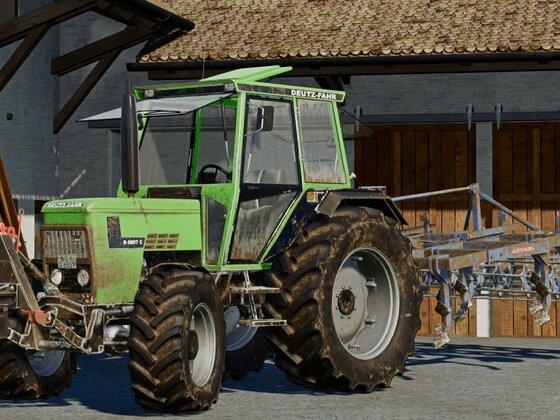 #Deutz-Fahr D6807 mit 2,5m Brenig Grubber