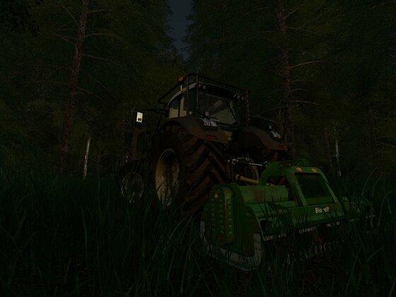 Fendt 939 beim Baumstupffräsen