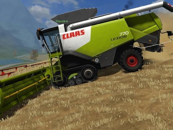 Weizen dreschen auf Mr. Hide's Gut