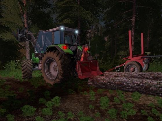 Deutz AgroStar 6.31 im Forst