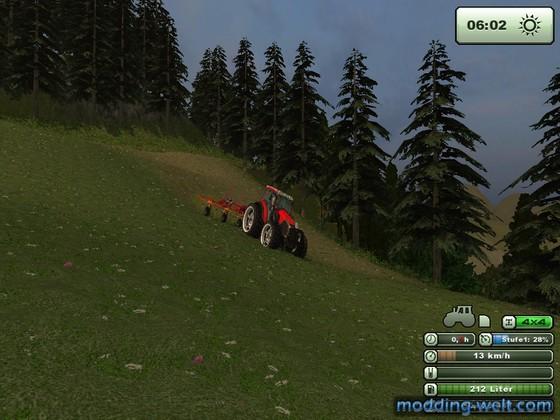 Heuen auf meiner umgebauten Wildbachtal Map