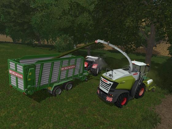 Gras häckseln mit Fendtfreund724 und ImMatze, der seinen Häcksler zur Verfügung stellt :D
