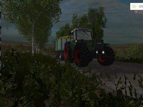 Unterwegs mit Getreide im Morgengrauen.